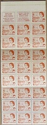 CANADA MNH Booklet BK60: 6c pane of 25 + 2 labels