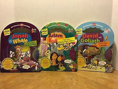 Lot I CAN READ THE BIBLE Story Stories Books w/ Interactive DVD Adam Jonah David