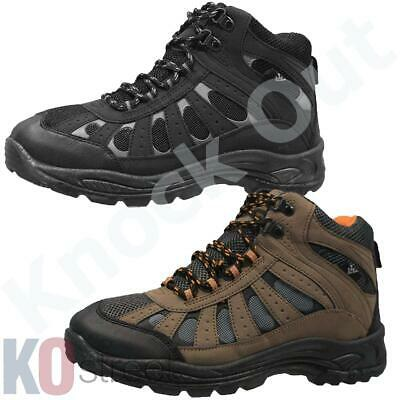 Mens Lace Up Trail Ankle Work Boots Winter Walking Hiking Shoes Trainers Size...