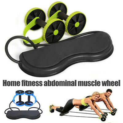 Abdominal Power Roll ABS Trainer Waist Slim Exercise Core Double Wheel Fitness