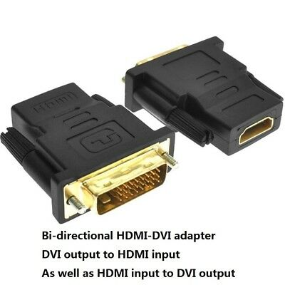 DVI-D Dual link Male 24 + 1 to HDMI. Female Adapter Useful N2C