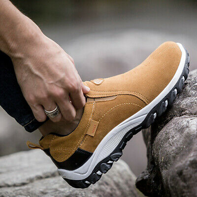 Men's Hiking Shoes Outdoor Sports Breathable Running Walking Shoes Suede Loafers