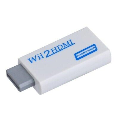 720p 1080p HD Upscale 3.5mm Audio Output For Wii to HDMI Converter Adapter