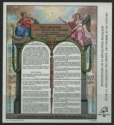 France Stamp 1989 MS 2890 The 200th Anniversary of French Revolution Mint MNH