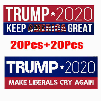 80Pcs Donald Trump 2020 President  Keep America Great Bumper Car Stickers 8Style