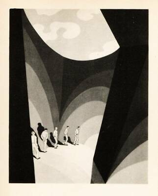 "Original John Vassos 1928 Vintage Art Deco Print ""That Little Tent of Sky..."""