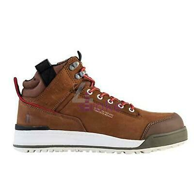 Switchback Safety Brown 8/42 Leather Steel Toe Work Boots
