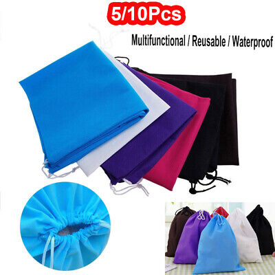 Waterproof Non-woven Drawstring Bag Travel Wash Pouch Shoe Clothes Storage Bags