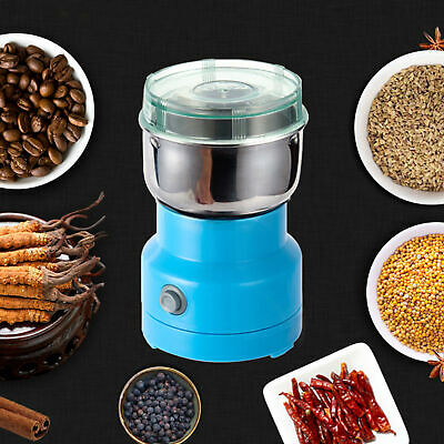 AC-110V Electric Herbs/Spices/Grains/Nuts/Coffee Bean Grinder Mill Grinding Blue