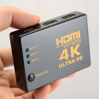 4K*2K HDMI 3in 1out Switch Splitter TV Switcher Box Ultra HD for HDTV PC  US