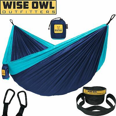 Wise Owl Outfitters Hammock Camping Double  Single With Tree Straps - Usa Based