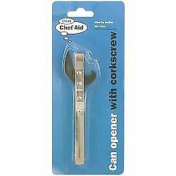 Chef Aid Can Opener with Corkscrew  Can Openers 10E 12144