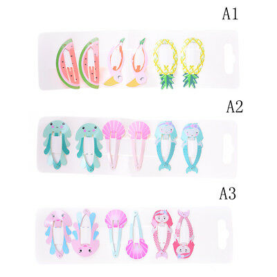 6PCS/set Mermaid Shell BB Clips Girls Hair Accessories Headwears Baby Hair'Clips