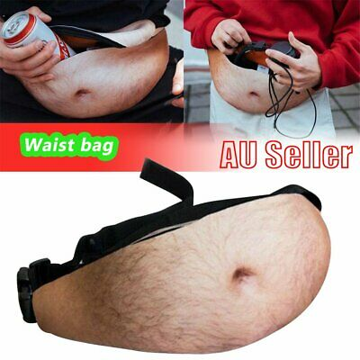 bf3fa4031146 DAD DAD BOD Waist Belt Bum Bag Leather Hairy Beer Fat Belly Fanny Pack  Pouch EA