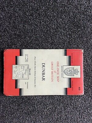 1958 Vintage OS Ordnance Survey One-inch Seventh Series Map 63 Dunbar