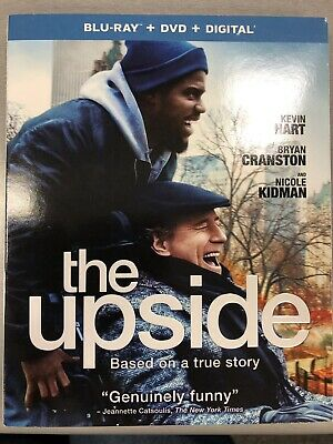 UPSIDE, THE BLU-RAY + DVD + Digital + Case + Slipcover Kevin Hart + Keychain NEW