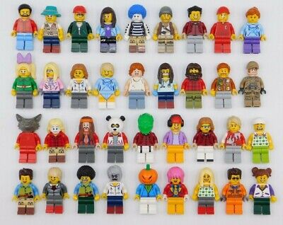 Lego 30 New Lego Minifigures Town City Series Boy Girl Town People Set