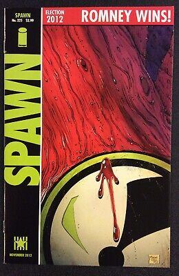 SPAWN #225 Comic Book HOMAGE COVER Todd McFarlane ROMNEY WINS Image NM 2012