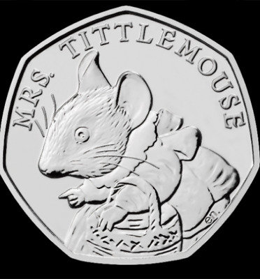 Mrs Tittlemouse 50p Coin 2018 **UNCIRCULATED** Beatrix Potter Fifty Pence Hunt