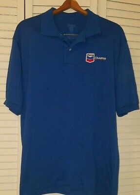 CHEVRON GAS OIL Co Mens Small Polo Shirt Embroidered Logo