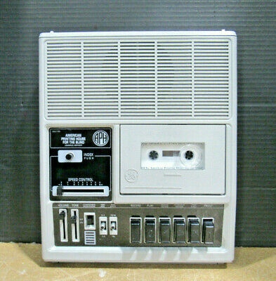 GE American Printing House For The Blind Cassette Tape Player 3-5196B Tested
