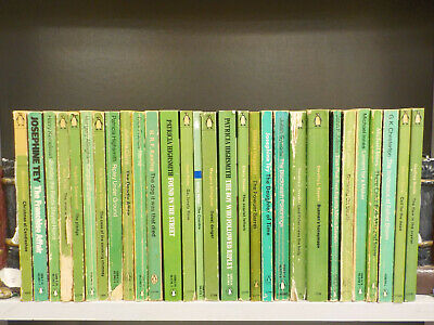 Penguin Green 'Crime' (1960's) - 29 Books Collection! (ID:5424)