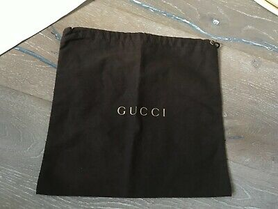 Gucci Pouch drawstring brown, made in Italy. For storage, gifts.. made in Italy