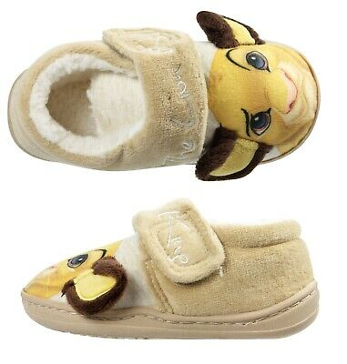 Boys/Kids Slippers Disney's Lion King Simba Touch Fasten Indoor Shoes UK 5-10