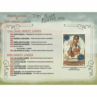 2019 Allen & Ginter Baseball Star Signs Insert Complete Your Set (You Pick)