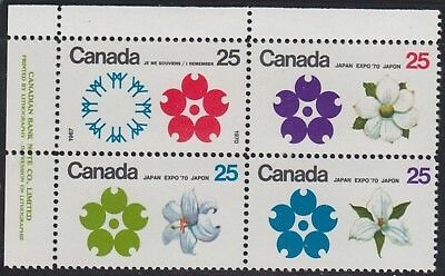 Canada, 1970  SG 650-653, Sc 508-511, mint, hinged in selvedge.