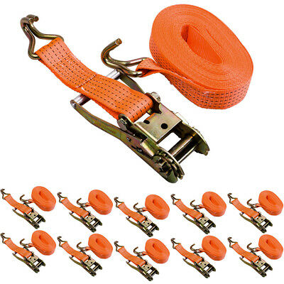 10*10m Heavy Duty Ratchet Tie Down Strap Roue Alliage camion remorque Claw Cargo