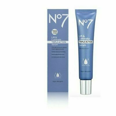 No7 Lift & Luminate Triple Action Serum Anti-Ageing - 30ml BOXED