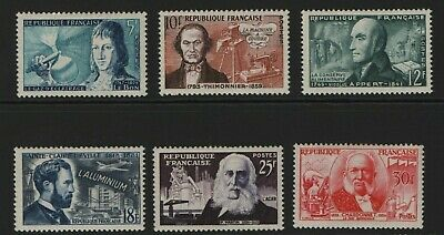 France Stamp 1956 SG 1239-1244 French Inventors Unmounted/Mounted Mint