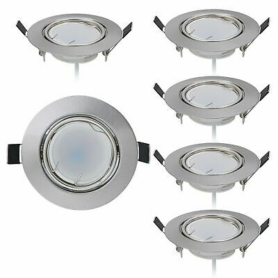 Lot de 6 Spot LED encastrable Ultra Plat avec 6 x 5 W Dimmable Ampoule 220V Spot