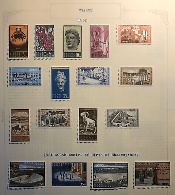 Cyprus 1962-1977 Qeii Collection - 22 Mm Sets