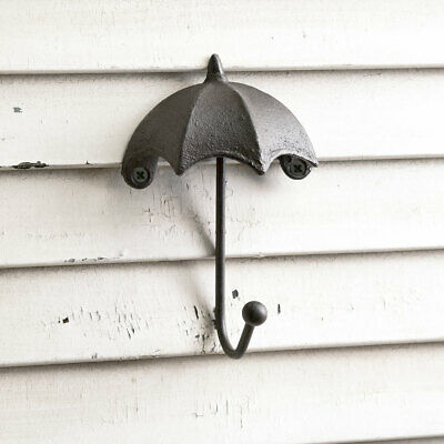 Umbrella Wall Cast Iron Decorative Single Hook Vintage Style Outdoors