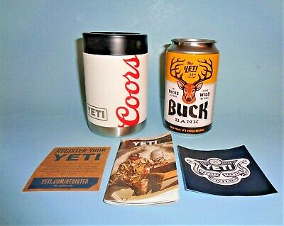 YETI COLSTER - COORS Branded Rambler Can Koozie Plus extras - New!