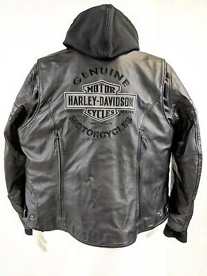 Harley-Davidson Womens Miss Enthusiast 3-In-1 Leather Jacket Size 3Xl 3W