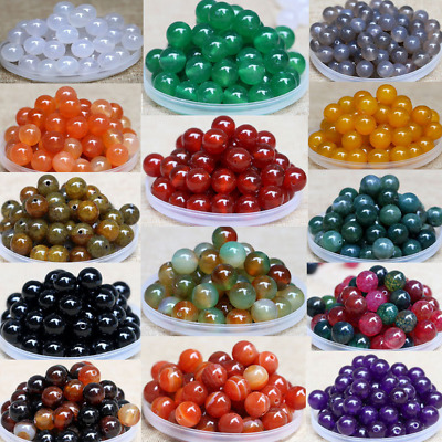100Pcs 4MM Wholesale Natural Gemstone Round Spacer Loose Beads Jewelry Making