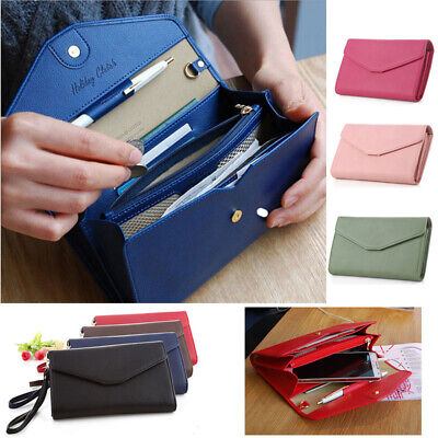New Lady Women Clutch Long Purse Leather Wallet Card Holder Handbag Phone Bag