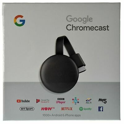 Chromecast 3rd Gen Digital HDMI Media Streaming Device (2018 Version)
