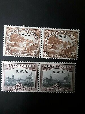 South West Africa Pairs of Stamps c1927-30 Mounted Mint
