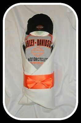 Gorgeous Baby Boy/Neutral Harley Diaper Baby! Great Baby Shower Gift