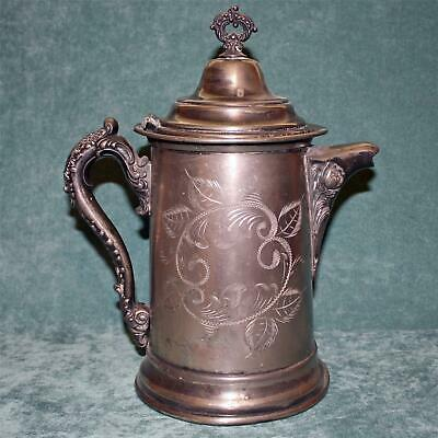 Large Antique American Silver Plate Hot Water Pot. 12 Inches