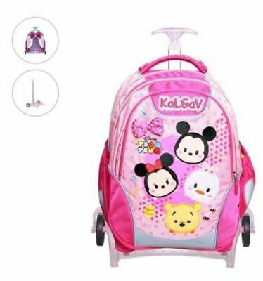 """Shiny A14064 12/"""" Inch Disney Minnie Mouse Rolling School Travel Backpack"""