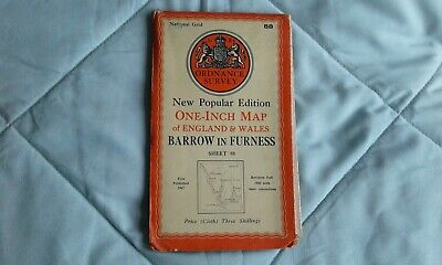 Ordnance survey map popular edition: one-inch, Barrow in Furness #88 1947