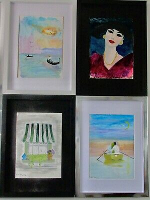 Original oil & watercolour paintings, framed in good quality frames.
