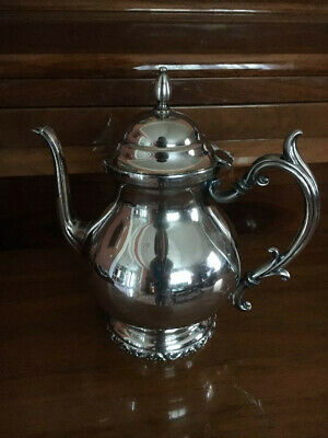 """Vintage Silver Plated Tea Pot - 10"""" Tall - marked National silver on copper"""