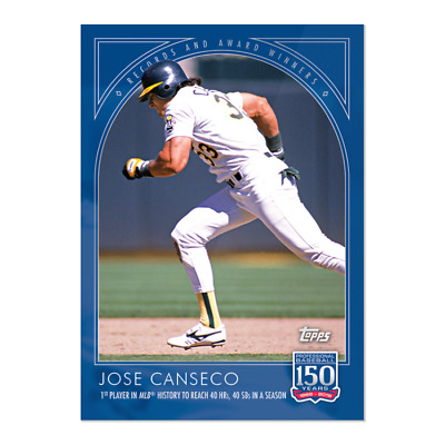2019 Topps 150 Years of Baseball #58 Jose Canseco Oakland Athletics