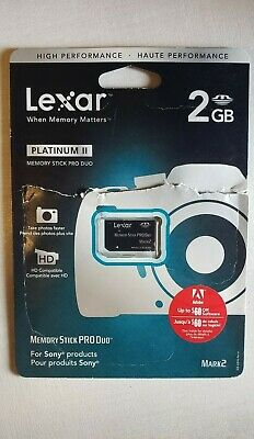 Lexar 2GB Memory Stick Pro Duo MSPD Memory Card MagicGate For Sony products